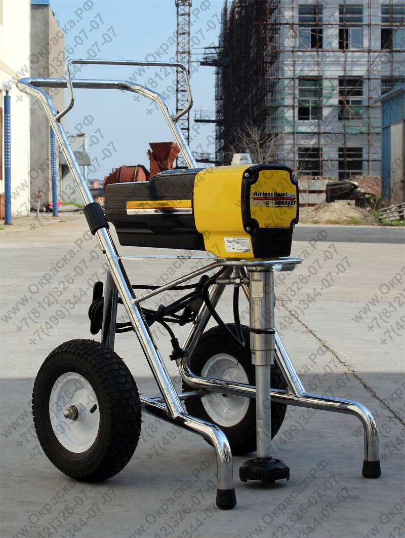 поршневой окрасочный аппарат безвоздушного распыления 4 литра в минуту для вязких составов