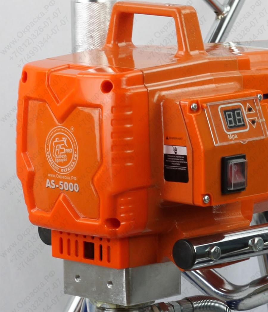Окрасочный аппарат AS -5000 оборудован электронной системой контроля оборотов двигателя
