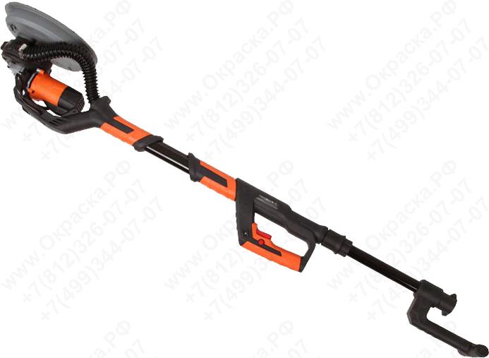 Электрическая шлифовальная машинка для стен и потолков с телескопической ручкой и пелеудалением, для шлифовки гипсокартона после штукатурки или шпаклевки.