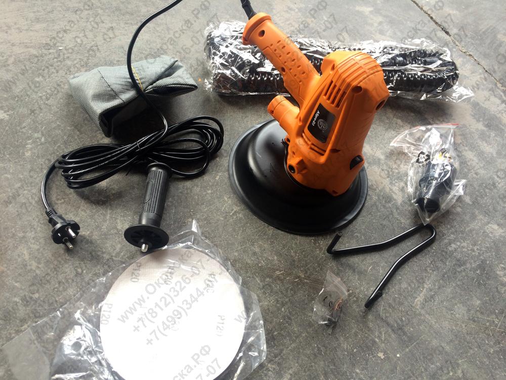 Мобильная (ручная) электрическая шлифовальная машина для стен и потолков, купить недорого