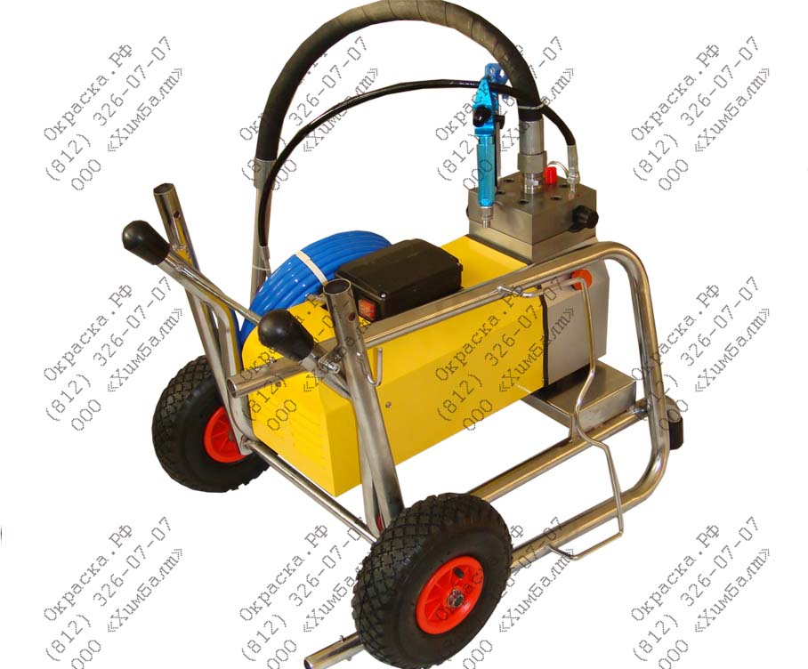 Мембранный окрасочный аппарат высокого давления DP-6860 с максимальной производительностью 6 л/мин. Стоимость 69900 руб. с НДС